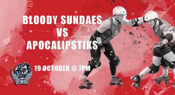 Perth Roller Derby | Bout 6 Bloody Sundaes vs Apocalipstiks